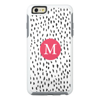 Modern Monogrammed Girly Hand drawn Dots Pattern OtterBox iPhone 6/6s Plus Case