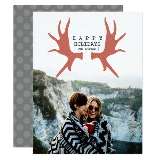 Modern Moose Holiday Card
