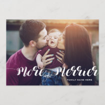 Modern More And Merrier Holiday Photo Card