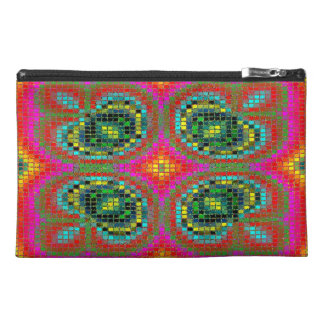 Modern mosaic colorful pattern travel accessories bag