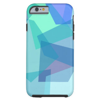 Modern Mosaic Cubism in Blue Teal Aqua Shapes iPhone 6 Case