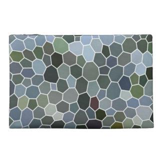 Modern mosaic pattern travel accessory bag