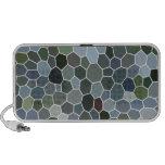 Modern mosaic pattern iPod speakers