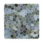 Modern mosaic pattern puzzle coaster
