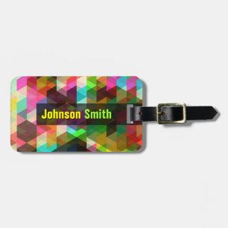 Modern Mosaic Rainbow Colorful Luggage Tag