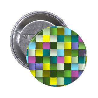 Modern Mosaic Woven Pattern 2 Inch Round Button