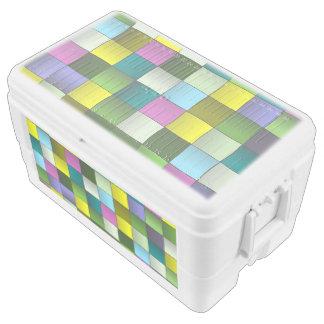 Modern Mosaic Woven Pattern Cooler