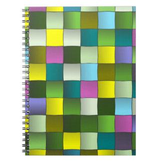 Modern Mosaic Woven Pattern Notebook