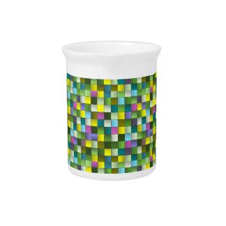 Modern Mosaic Woven Pattern Pitcher
