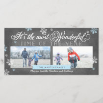 Modern Most Wonderful Time Holiday Chalkboard