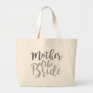 Modern Mother of The Bride Cursive Ombre Large Tote Bag