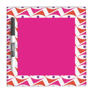 Modern Motif Pink & Red and Purple Dry Erase Whiteboard