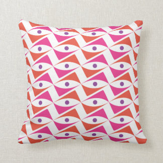 Modern Motif Pink & Red and Purple Pillow