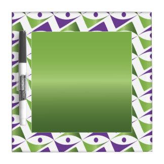 Modern Motif Purple & Peridot Dry Erase Whiteboard