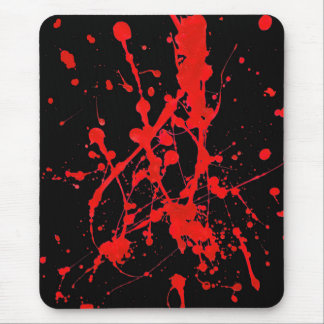 Modern mousepad, abstract, black, red, sprayed mouse pad