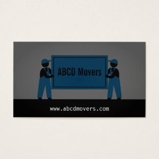 Modern Mover Moving Services Logistics Company Business Card