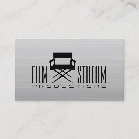 Modern movie director chair film producer business card zazzle modern movie director chair film producer business card colourmoves