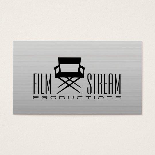 Modern movie director chair film producer business card zazzle modern movie director chair film producer business card colourmoves Image collections