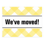 Modern moving postcards with yellow plain design