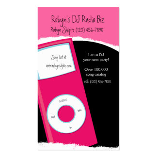 Modern MP3 player DJ RADIO Business Card