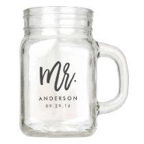 Modern Mr. Wedding Mason Jar