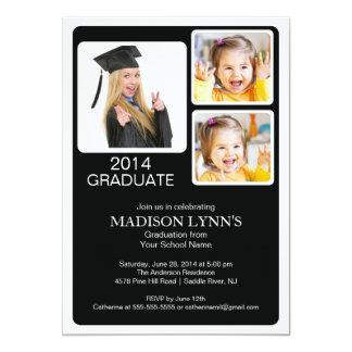 Modern Multi Photo Graduation Party Invitation