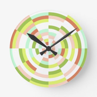 Modern Multicolor Candy Clock