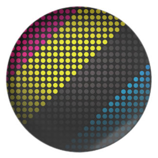 Modern Multicolor Spotted Plate