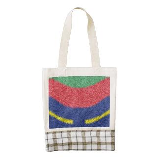 Modern multicolored cool pattern zazzle HEART tote bag