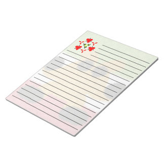 Modern multicolored creature pattern notepad