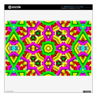 Modern multicolored pattern decal for MacBook air