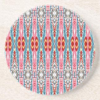 Modern multicolored pattern drink coaster