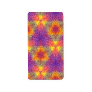 Modern multicolored pattern address label