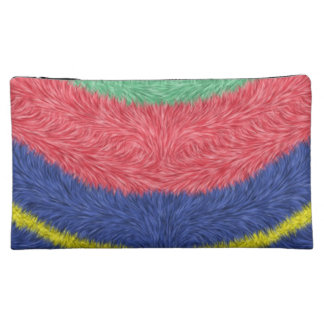 Modern multicolored pattern makeup bags