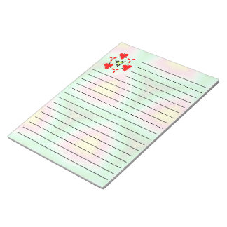 Modern multicolored pattern notepad