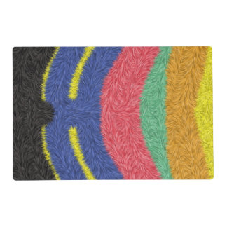 Modern multicolored pattern placemat