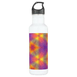 Modern multicolored pattern stainless steel water bottle