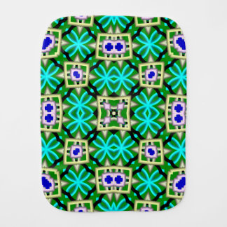 Modern multicolored pattern baby burp cloths