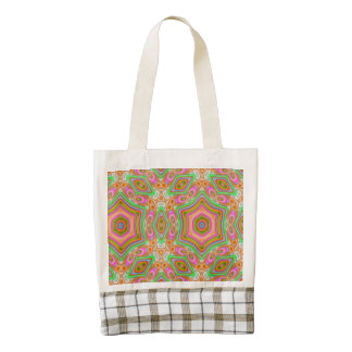 Modern multicolored trendy pattern zazzle HEART tote bag