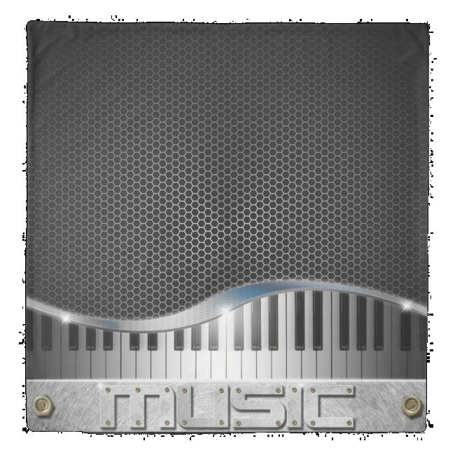 Modern Music (1 side) Queen Duvet Cover