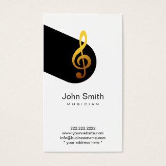 Modern Music Symbol Musician Profile Card