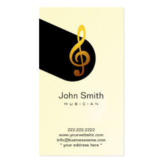 Modern Music Symbol Musician Profile Card Double-Sided Standard Business Cards (Pack Of 100)