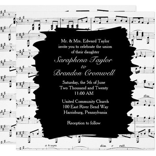 music wedding invitation or 78 music box wedding invitations