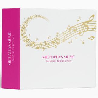 Modern Musical Business Branding Gold Music Notes Binder