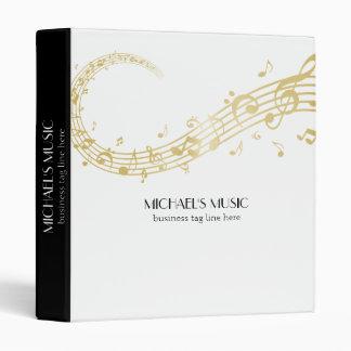 Modern Musical Business Branding Gold Music Notes Vinyl Binders