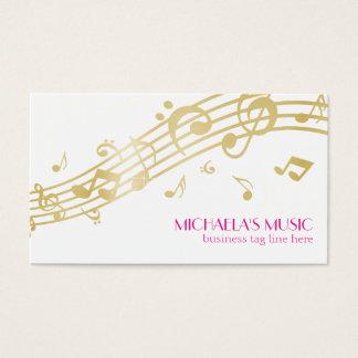 Modern Musical Business Branding Gold Music Notes Business Card