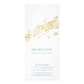 Modern Musical Business Branding Gold Music Notes Rack Card