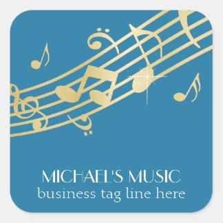 Modern Musical Business Branding Gold Music Notes Stickers
