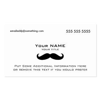 Modern Mustache Business Card
