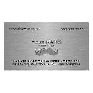 Modern Mustache Metallic print Double-Sided Standard Business Cards (Pack Of 100)